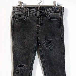 Madewell | Custom Acid Distressed Raw Hem Straight